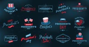Presidents day vector typography. stock illustration