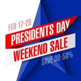 Presidents day weekend sale banner Royalty Free Stock Images