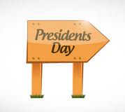Presidents day wood sign illustration Royalty Free Stock Photos