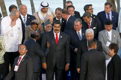 Presidents of Delegations pose for the official photograph in the 17th Summit of the Non-Aligned Movement Stock Image