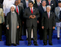 Presidents of Delegations pose for the official photograph in the 17th Summit of the Non-Aligned Movement Stock Photography