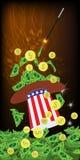 PRESIDENTS- HATTAR USA MAGI OCH MIRAKEL royaltyfri illustrationer