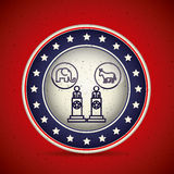Presidents inside button design Stock Images