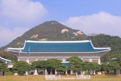 Presidents- kontor Seoul Korea för blått hus Royaltyfria Bilder