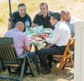 Presidents- matställe på det Rozhen rådet i Bulgarien Royaltyfri Fotografi