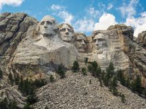 The presidents of Mt. Rushmore stock photography