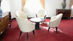 Presidents Private Room - Independence Palace - Ho Chi Minh City. Former President Ngo Dinh Diem Residence during the Vietnam War stock footage