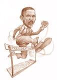 presidents- race för obama Arkivfoton