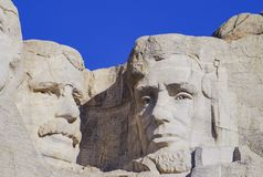 Presidents- skulptur på Mount Rushmore den nationella monumentet, South Dakota arkivfoton