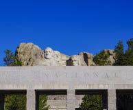 Presidents- skulptur på Mount Rushmore den nationella monumentet, South Dakota royaltyfri fotografi