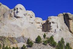 Presidents- skulptur på Mount Rushmore den nationella monumentet, South Dakota arkivbild
