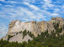 Presidents- skulptur på Mount Rushmore den nationella monumentet, South Dakota fotografering för bildbyråer