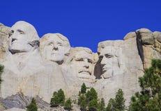 Presidents- skulptur på Mount Rushmore den nationella monumentet, South Dakota arkivbilder