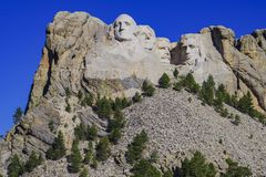 Presidents- skulptur på Mount Rushmore den nationella monumentet, South Dakota royaltyfria bilder