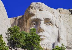 Presidents- skulptur på Mount Rushmore den nationella monumentet, South Dakota arkivfoto
