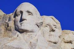 Presidents- skulptur på Mount Rushmore den nationella monumentet, South Dakota royaltyfria foton