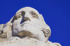 Presidents- skulptur på Mount Rushmore den nationella monumentet, South Dakota royaltyfri bild