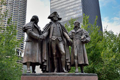 Presidents statues in Chicago Stock Photography