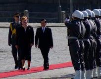 Presidents Tarja Halonen and Nguyen Minh Triet royalty free stock photo