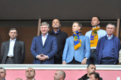 The presidents of three football clubs in Ukraine Stock Photography