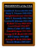 Presidents USA. List of the post World War II presidents of the United States of America Stock Images