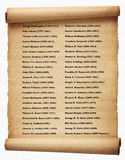 List of presidents USA. List of the american presidents since Washington Royalty Free Stock Image