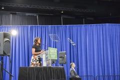 Presidentsfru Michelle Obama Arkivfoton