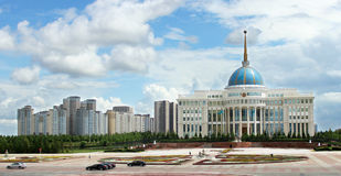 Presidentslott i Astana arkivfoto