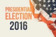Presidentsverkiezing 2016 achtergrond Stock Foto's