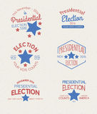 Presidentsverkiezing Grafische Kentekens Stock Fotografie