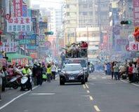 Presidentsverkiezingcampagne in Taiwan Stock Afbeeldingen