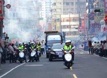 Presidentsverkiezingcampagne in Taiwan Stock Fotografie