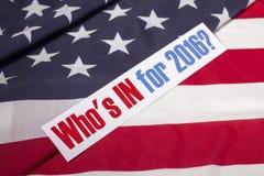Presidentval och amerikanska flaggan Royaltyfri Foto