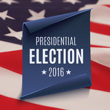 Presidentvalbakgrund 2016 Royaltyfria Bilder