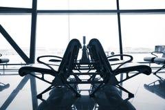 Presidenza attendente in aeroporto, Pechino Immagine Stock
