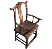 Presidenza cinese della mobilia antica (isolata) fotografia stock