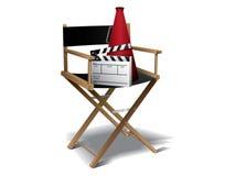 Presidenza del Direttore di film Immagine Stock
