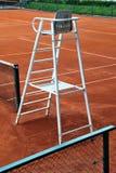 Presidenza dell'arbitro di tennis Fotografia Stock Libera da Diritti