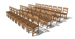Presidenza di legno Fotografie Stock Libere da Diritti