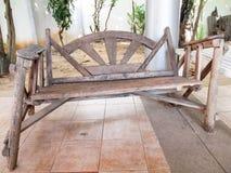 Presidenza di legno Handmade Immagini Stock Libere da Diritti