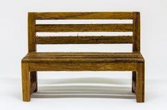 Presidenza di legno isolata Immagine Stock