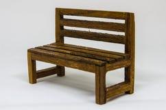 Presidenza di legno isolata Fotografie Stock