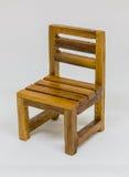 Presidenza di legno isolata Immagini Stock Libere da Diritti