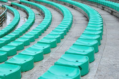 Presidenza di plastica verde Immagini Stock