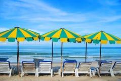 Presidenza di spiaggia Immagini Stock