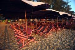 Presidenza di spiaggia Fotografia Stock