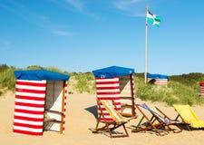 Presidenza di spiaggia al mare Fotografie Stock Libere da Diritti