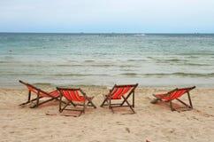 Presidenza di spiaggia all'isola di Samui Immagini Stock Libere da Diritti