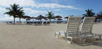 Presidenza di spiaggia del salotto Fotografia Stock Libera da Diritti