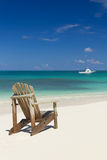 Presidenza di spiaggia sulla sabbia Fotografia Stock Libera da Diritti